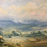 Rupert Aker, Harvest Bales, Original Oil Painting, Textured Paintings, Affordable Art 8