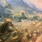 Rupert Aker, Harvest Bales, Original Oil Painting, Textured Paintings, Affordable Art 9