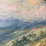 Rupert Aker, Harvest Bales, Original Oil Painting, Textured Paintings, Affordable Art10