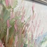 Rupert Aker, Willow Herb, Original Oil Painting, Textured Paintings, Affordable Art 11