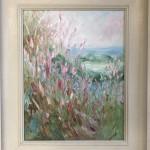 Rupert Aker, Willow Herb, Original Oil Painting, Textured Paintings, Affordable Art 14