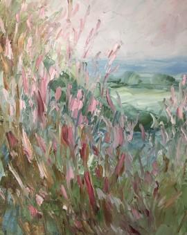 Rupert Aker, Willow Herb, Original Oil Painting, Textured Paintings, Affordable Art 15