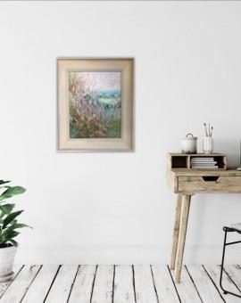 Rupert Aker, Willow Herb, Original Oil Painting, Textured Paintings, Affordable Art 3