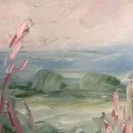 Rupert Aker, Willow Herb, Original Oil Painting, Textured Paintings, Affordable Art 9
