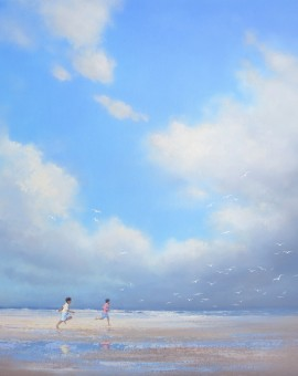 Tony Hinchliffe chasing seagulls
