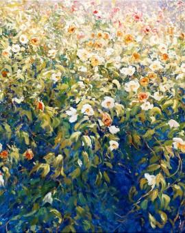 Wild Rose Wall 80x100cm