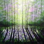 "Amanda Horvath ""A Quiet Wood""  acrylics on canvas 61x61cms £650"