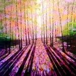 Amanda Horvath The Harmony of Trees      Landscape Painting, Impressionist Art, Affordable Contemporary Painting