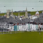 Clare Halifax, South Park View, Oxford, 8 colour silkscreen print, image size 35x35cm, paper size 37x38cm, limited edition of 75, unframed retail price £225
