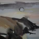 Duncan MacDonald Johnson Setting Sun over Mwnt close up 2