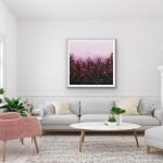 Sophie Berger - wildflower meadow - Oil on canvas - 80 x 80 cm In situ