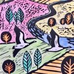 Joanna Padfield Canada Goose Linocut Print 2