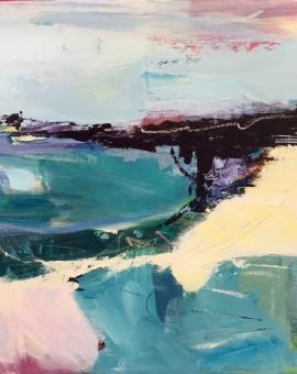 Purple Bay catherine warren wychwood art original abstract