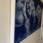 Sophie Harden Duel Original Oil Painting of Elephants 5
