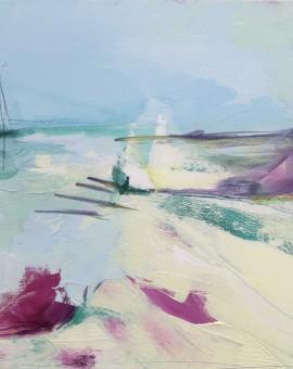 beach bar catherine warren wychwood art original abstract painting