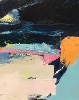 orange cliff catherine warren wychwood art original abstract painting