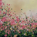 4 Sophie Berger – Blooming Foxgloves – Oil on canvas – 100 x 100 cm