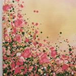 1 Sophie Berger – Blooming Foxgloves – Oil on canvas – 100 x 100 cm