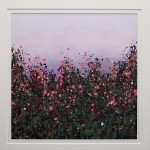 Sophie Berger - wildflower meadow - Oil on canvas - 80 x 80 cm Framed