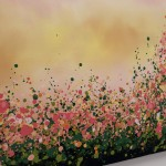5 Sophie Berger – Blooming Foxgloves – Oil on canvas – 100 x 100 cm