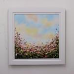 Sophie Berger - Spring Fling - Oil on canvas - 60 x 60 cm Framed