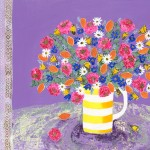 Amy Christie 'In Full Bloom' limited edition bright art flower print