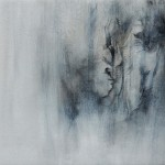 Annamarie Dzendrowskyj. Fleeting Moments III . Original oil painting, Abstract art, Contemporary monochrome painting.
