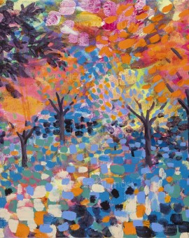 'Arboretum'  Original Painting 41 x 51 cm by Rosemary Farrer