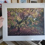 Autumn Tree Blush mounted