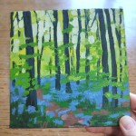 Bluebell Wood study 1 scale