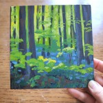 Bluebell Wood study 2 scale