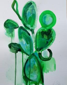 Cactus Plant, Gavin Dobson, Watercolour
