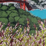 Clare Halifax, Leafing San Francisco Bay, Close Up 4
