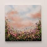 2 Sophie Berger -In Bloom – Oil on canvas – 61 x 61 cm Framed