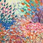 Dazzle Original Painting by Rosemary Farrer Detail 2