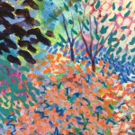 Dazzle Original Painting by Rosemary Farrer Detail 4