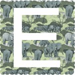 E is for elephant, 3 colour screen print, image size 35x35cm, paper size 37x38cm, edition of 100, unframed retail price £70