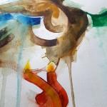 Flying Duck, Gavin Dobson, watercolour3