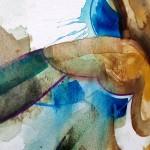 Flying duck, Gavin Dobson, watercolour2