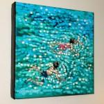 Gordn Hunt. Just Swim. on a wall