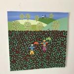 Gordon Barker. Poppy Field Scarecrows, Landscape Art 3