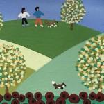 Gordon Barker. Poppy Field Scarecrows, Landscape Art 4