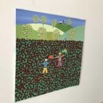 Gordon Barker. Poppy Field Scarecrows, Landscape Art 5