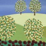 Gordon Barker. Poppy Field Scarecrows, Landscape Art 7