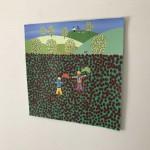 Gordon Barker. Poppy Field Scarecrows, Landscape Art 8