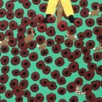 Gordon Barker. Poppy Field Scarecrows, Landscape Art 9