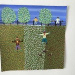 Gordon Barker. Scarecrows In Mixed Flowers, Landscape Art 11