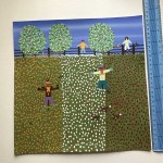 Gordon Barker. Scarecrows In Mixed Flowers, Landscape Art 2