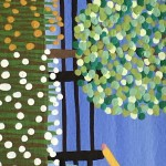 Gordon Barker. Scarecrows In Mixed Flowers, Landscape Art 3
