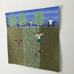 Gordon Barker. Scarecrows In Mixed Flowers, Landscape Art 4